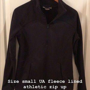 Quarter zip fleece top